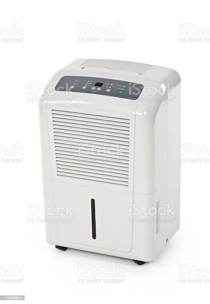 Dehumidifier Isolated On White stock photo