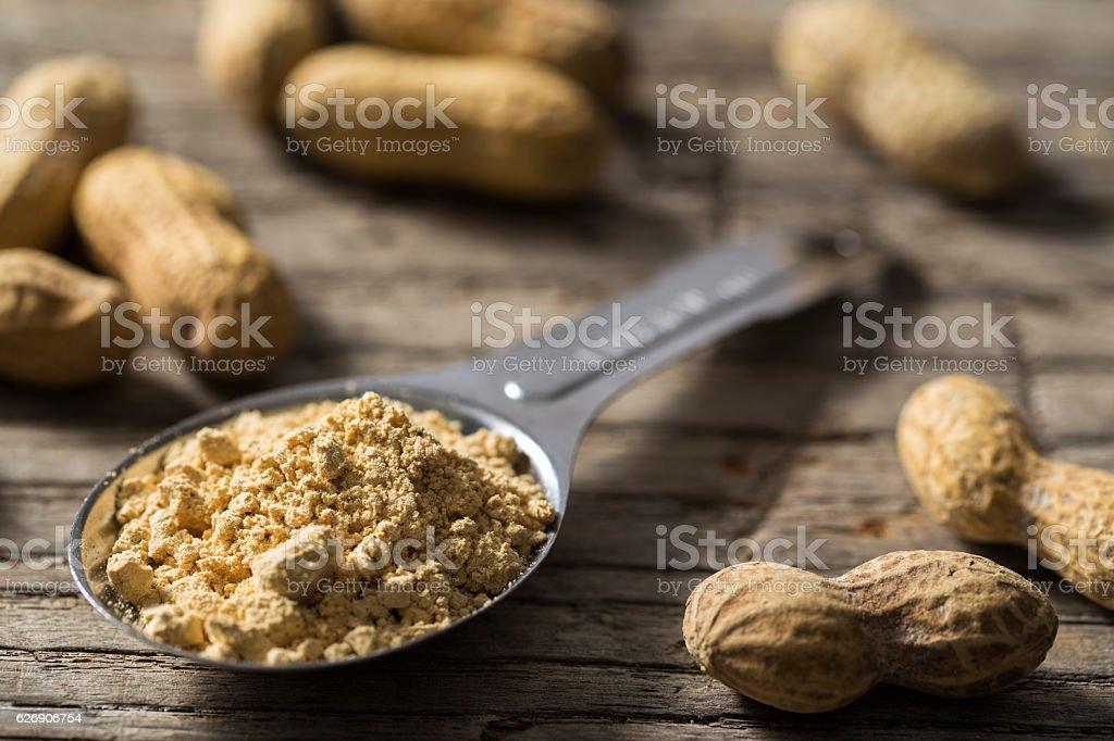 Dehydrated Peanut Powder with Peanuts stock photo