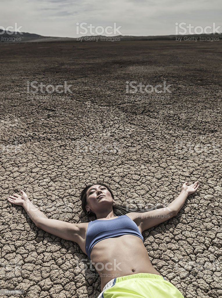 Dehydrated Runner royalty-free stock photo