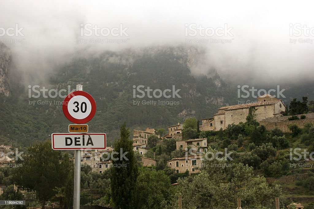 Dei? in the Tramuntana mountains of Majorca, Spain stock photo