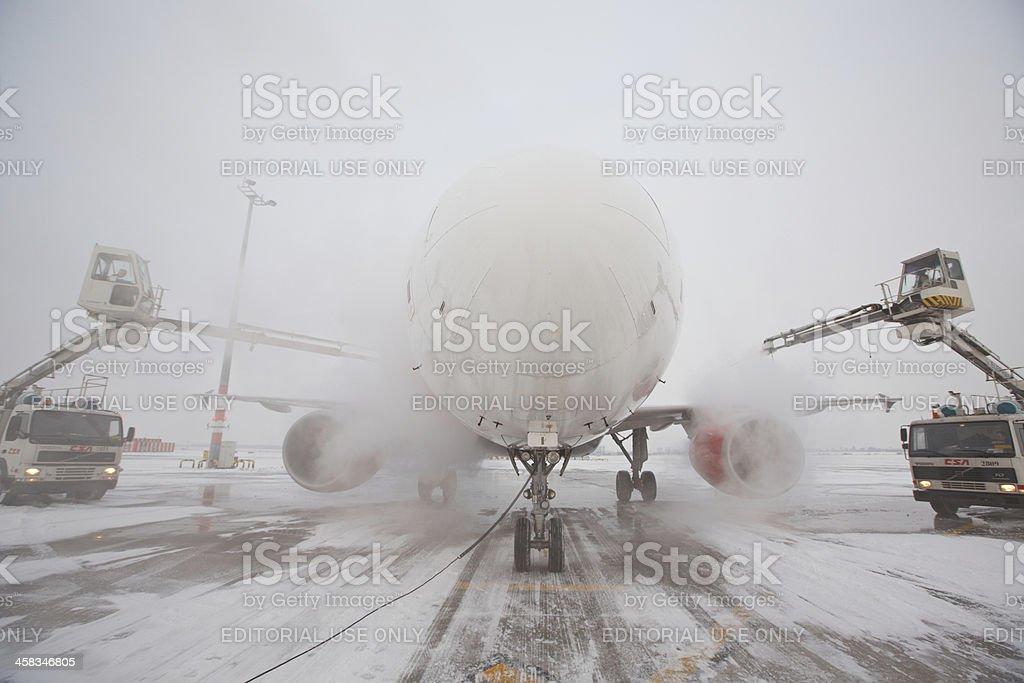 De-icing stock photo