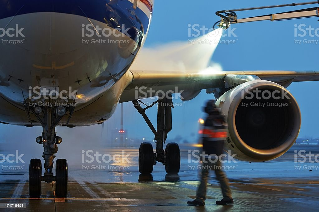 Deicing stock photo
