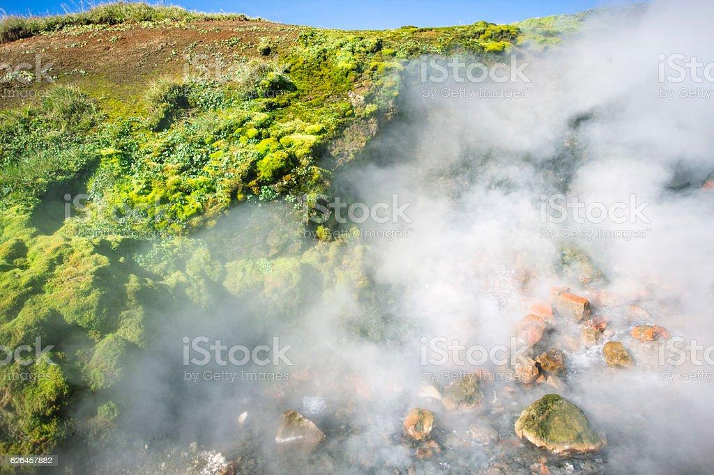 Deildartunguhver hot spring, Iceland stock photo