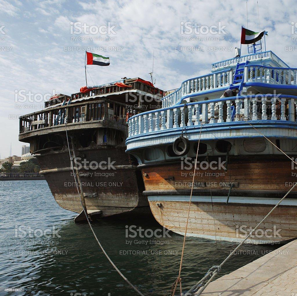 Deira Creek is a trading hub in Dubai, UAE stock photo