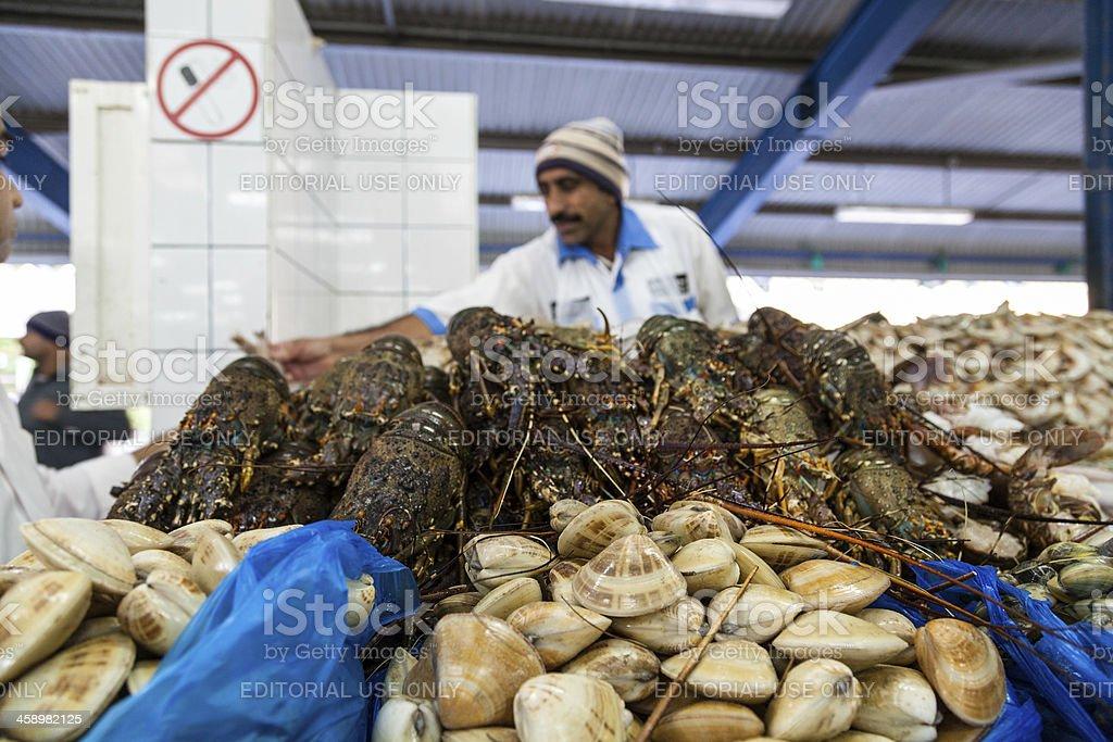 Deira fish market in Dubai royalty-free stock photo