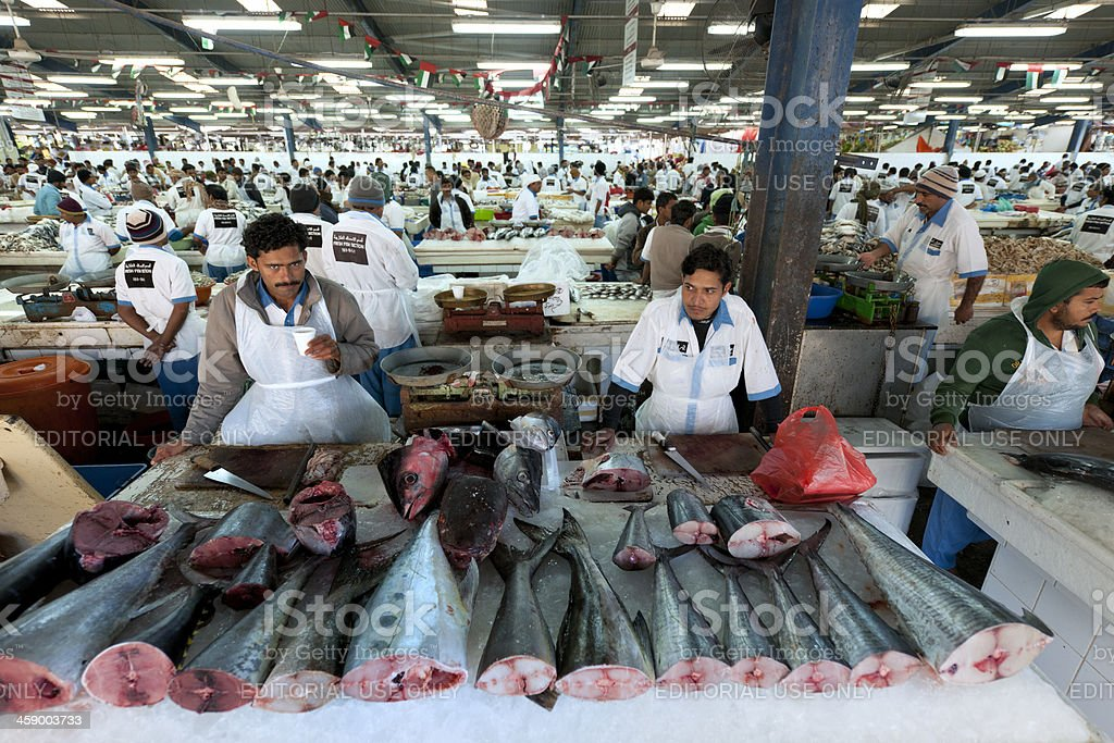 Deira fish market in Dubai stock photo