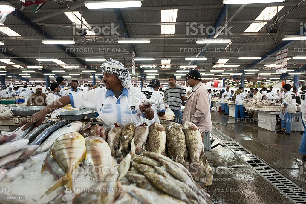 Deira fish market in Dubai royalty-free stock photo