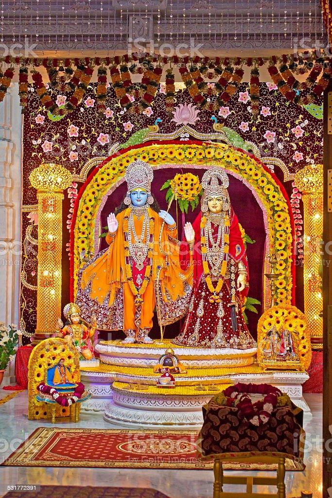 Deities of Sita and Rama stock photo