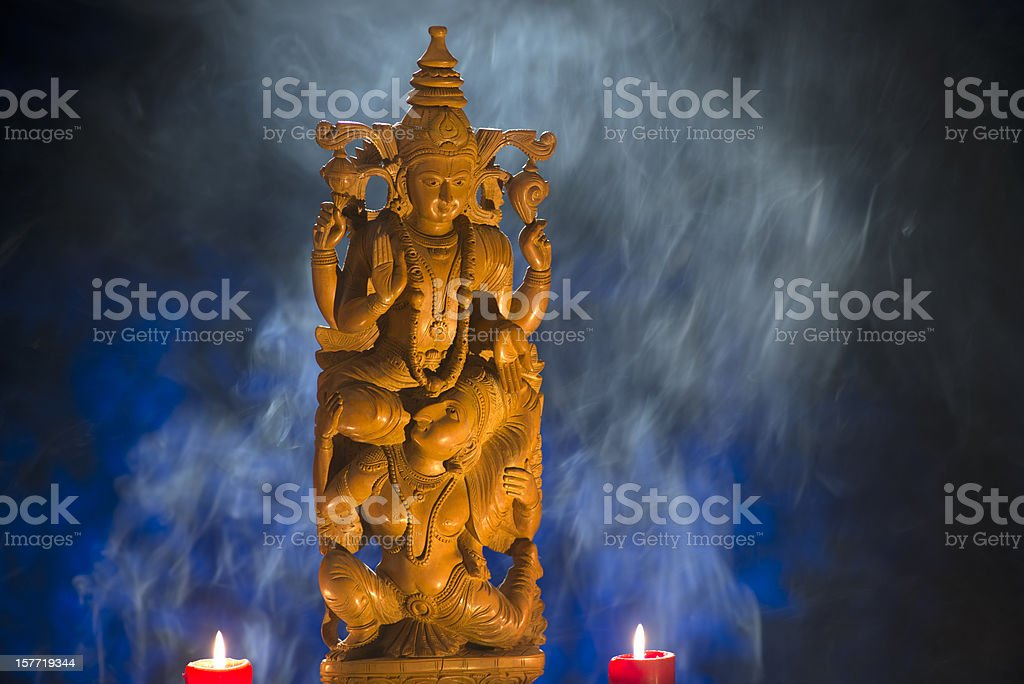 Deity Vishnu, Hindu, God stock photo