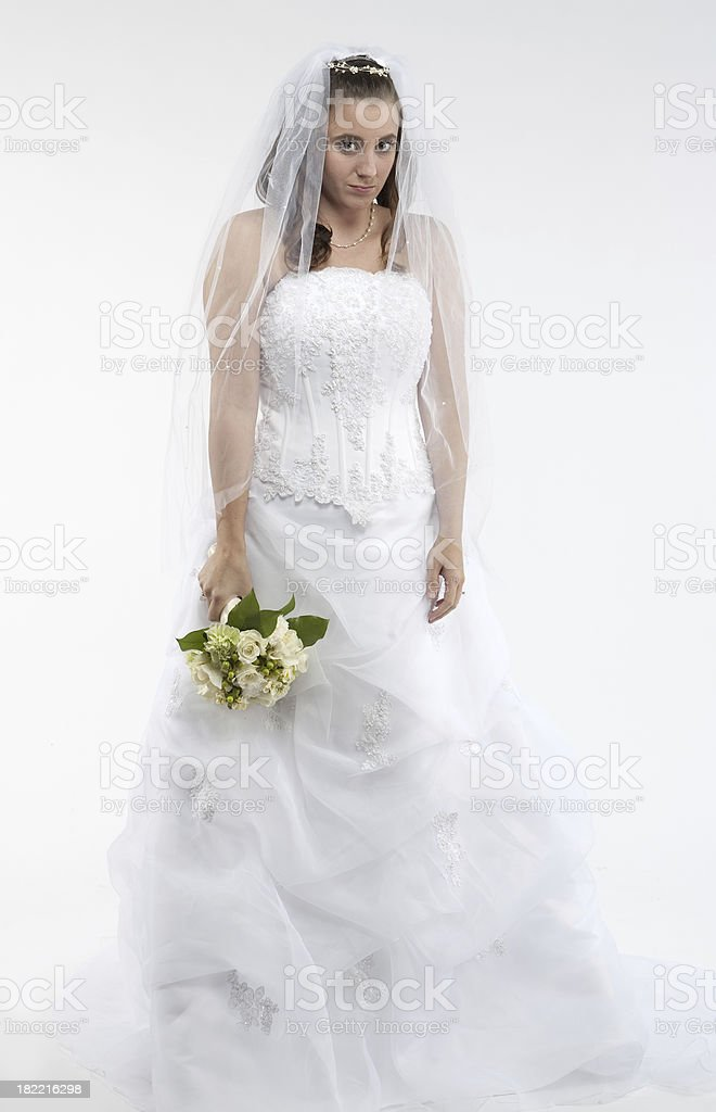 dejected bride royalty-free stock photo