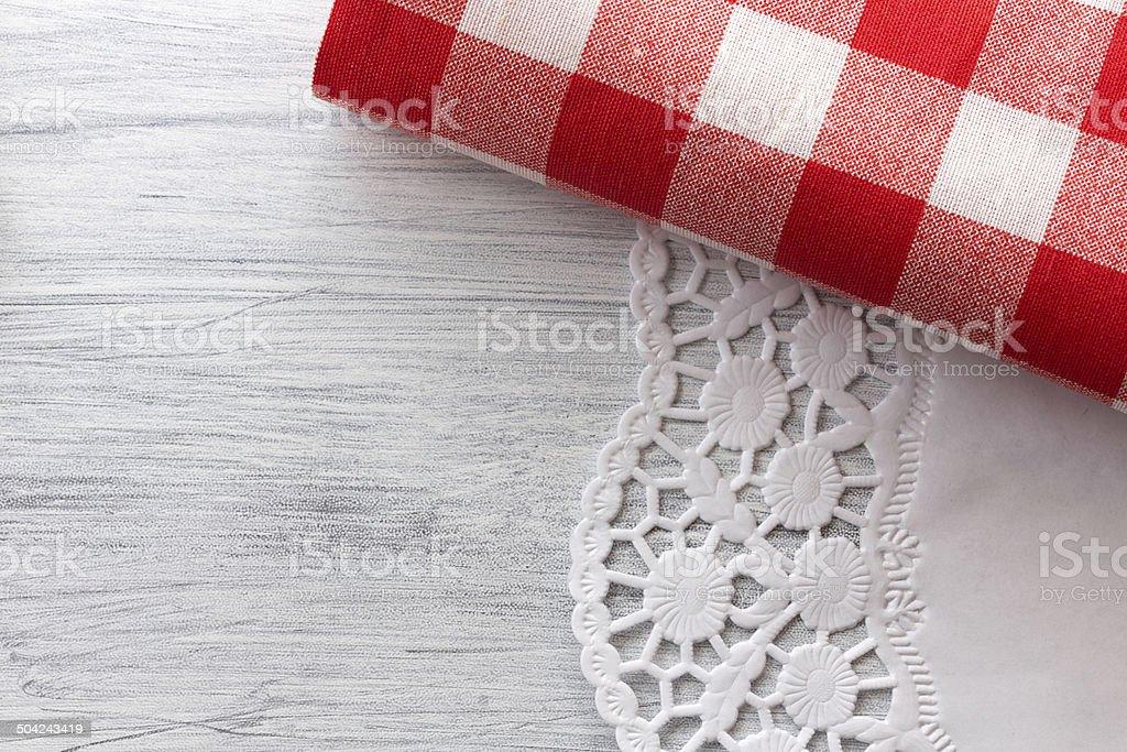 Deko Decke an weissem Muster stock photo