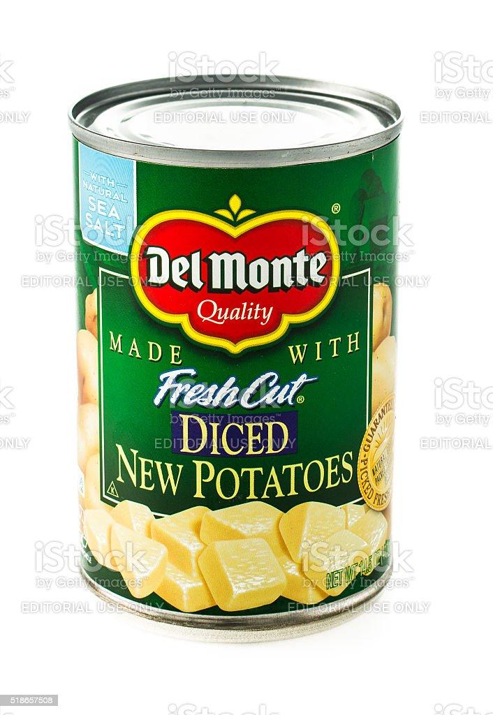 Del Monte New Potatoes stock photo