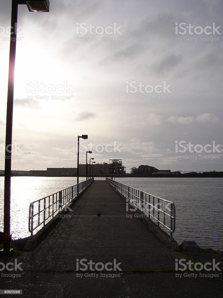 Del Norte Pier in Eureka stock photo