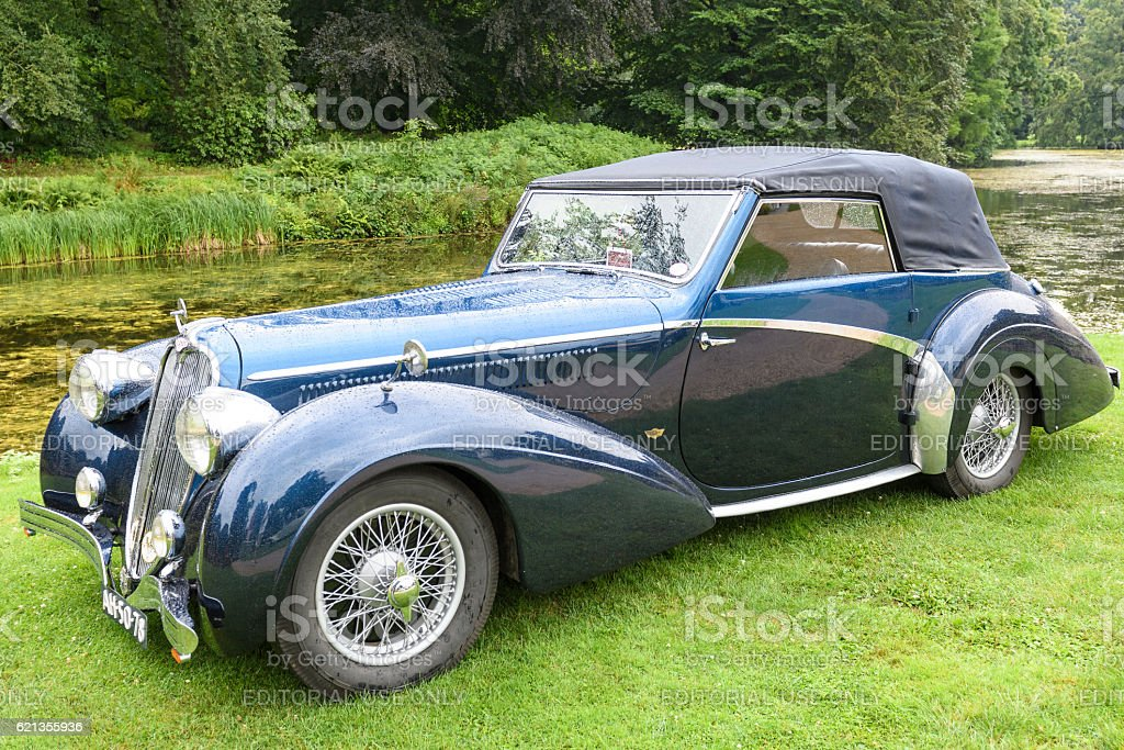 Delahaye 135 MS, 2 seater 1948 classic convertible car stock photo