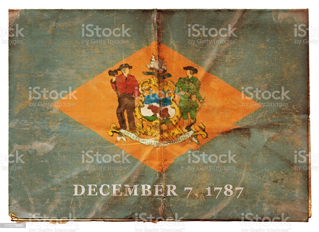 Delaware flag (XXL) stock photo