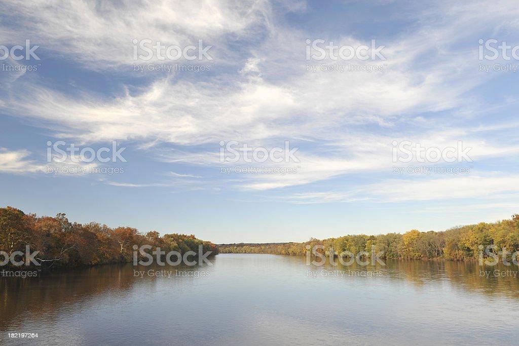 Delaware River stock photo