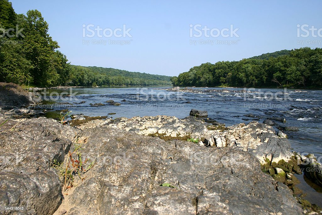Delaware River Rapids stock photo