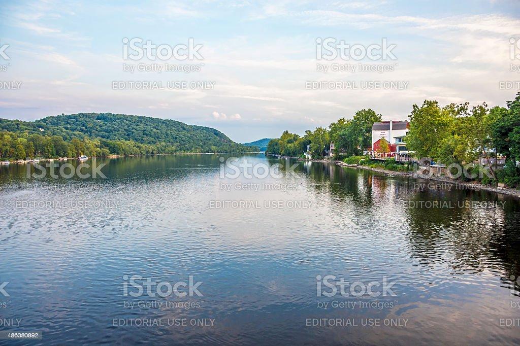 Delaware River View stock photo
