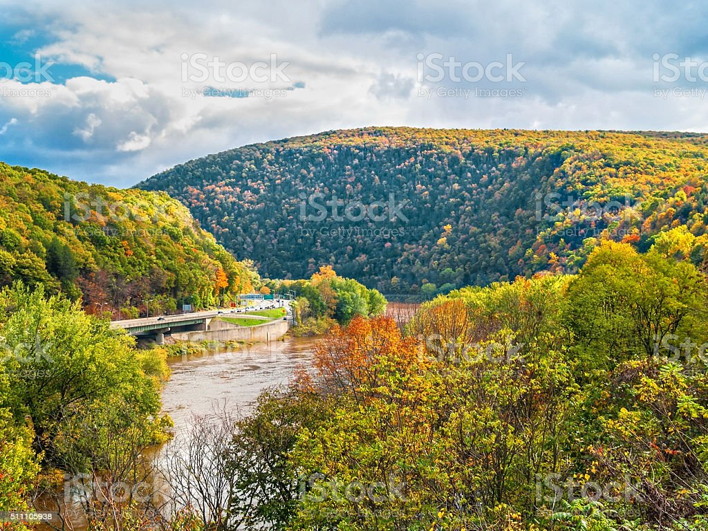 Delaware Water Gap View stock photo