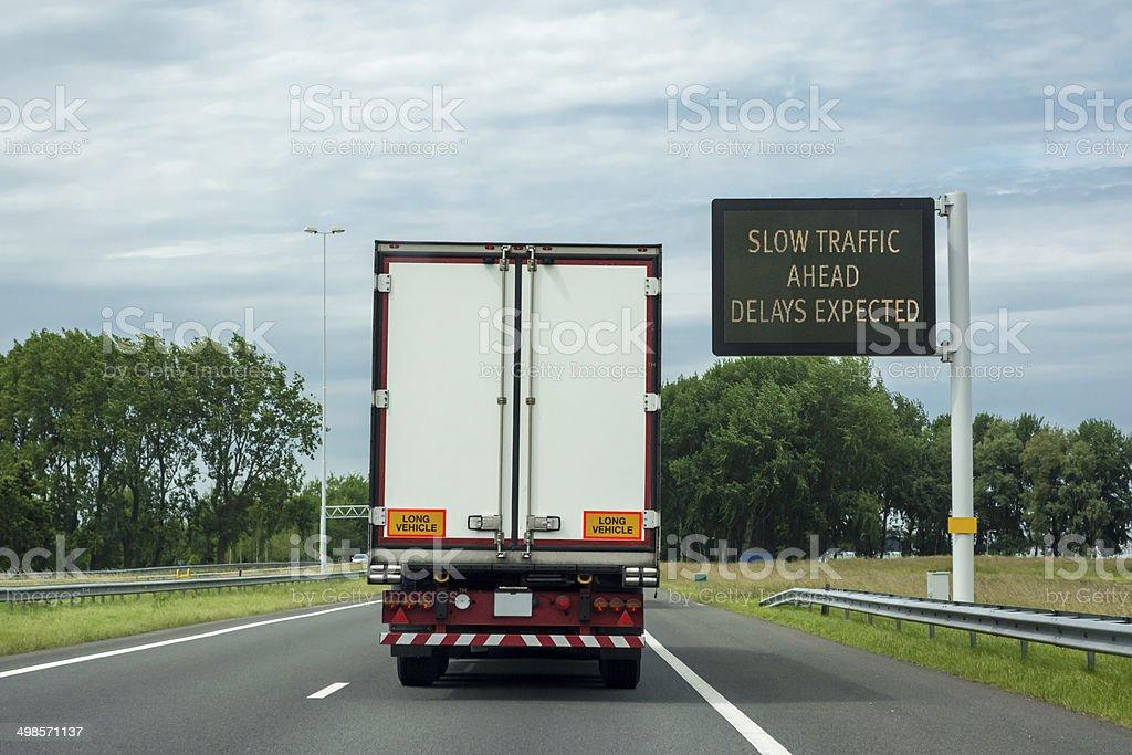 Delay Expected right drive stock photo