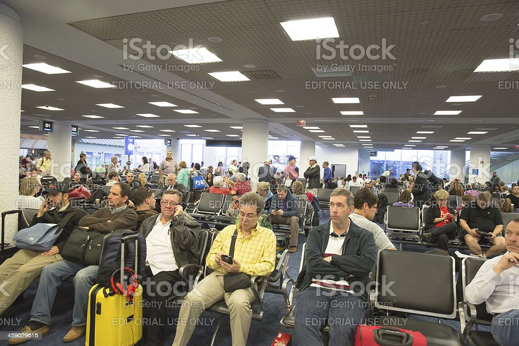Delayed Airport Flight royalty-free stock photo