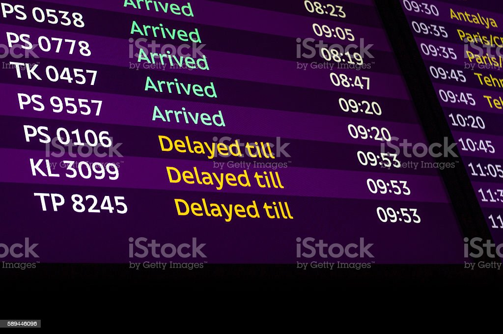 Delayed till stock photo