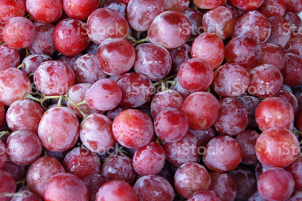 Delecious red grapes stock photo