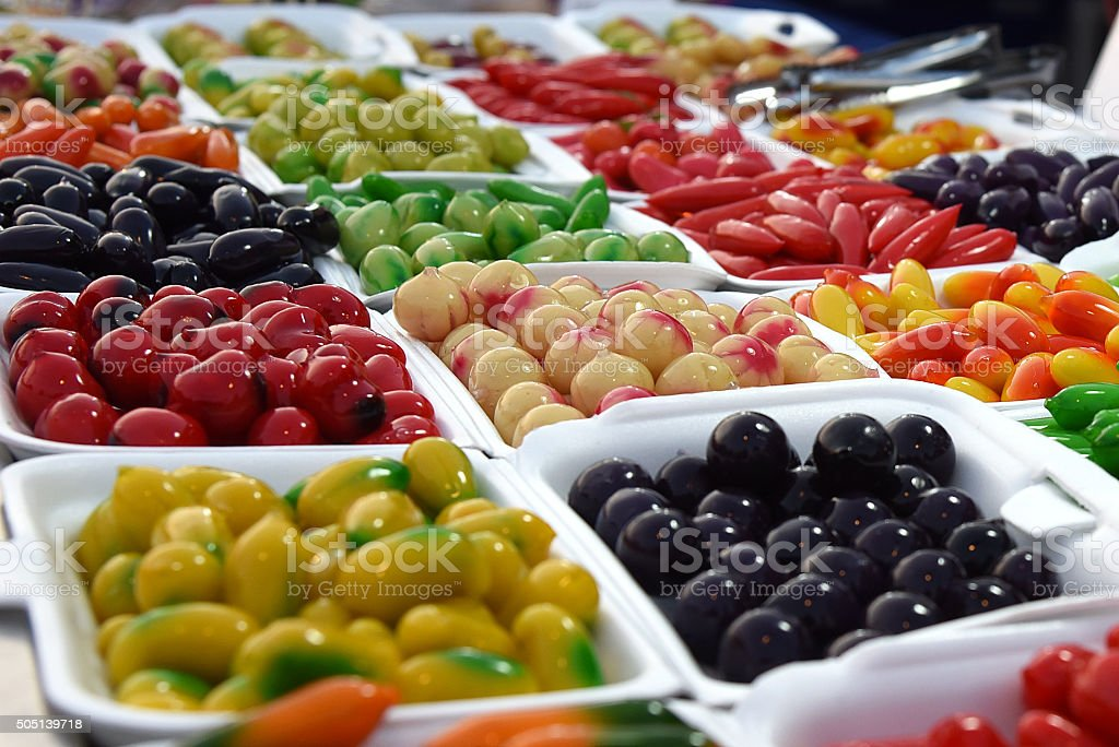 Délicieux dessert préparé imitation de Fruits, des Fruits et légumes, Imitant un animal photo libre de droits