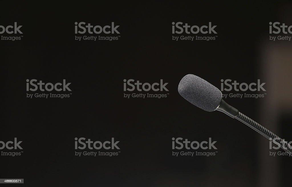 Delegate Microphone stock photo