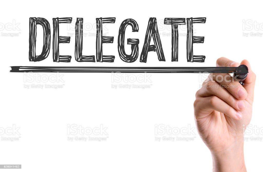Delegate stock photo