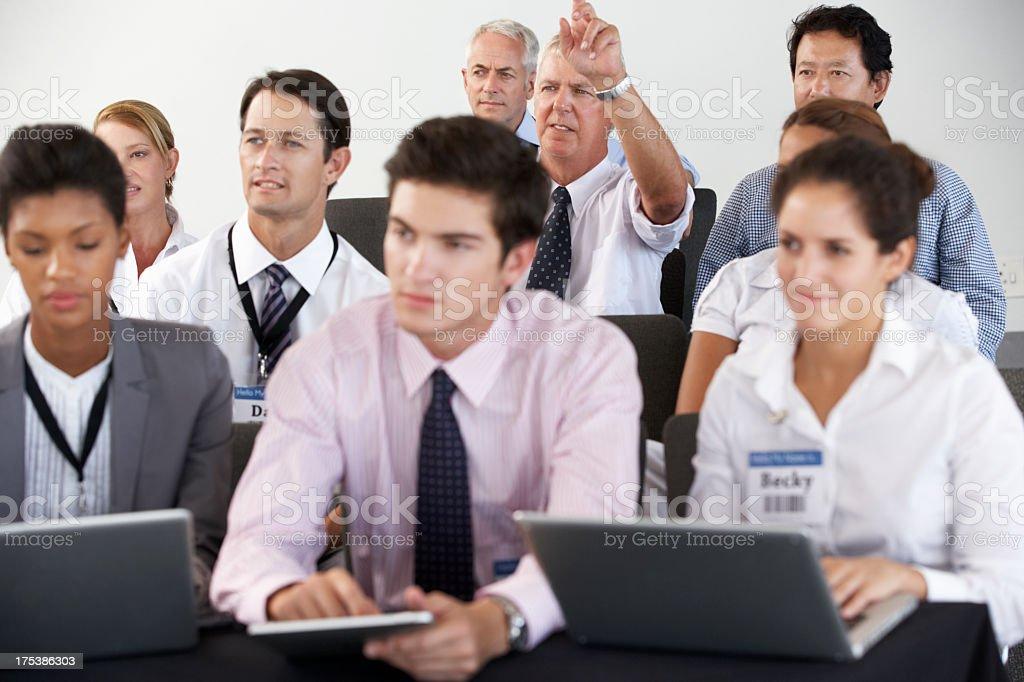 Delegates Listening To Presentation royalty-free stock photo