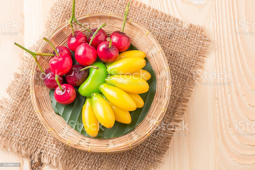 deletable imitation fruits (Look Choup) stock photo