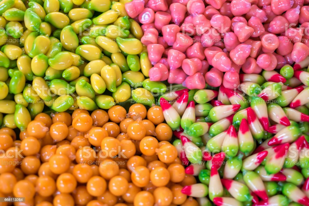 Deletable Imitation Fruits stock photo