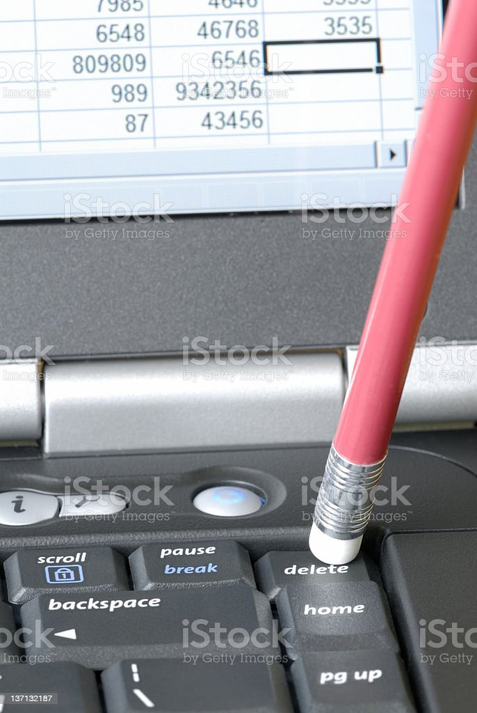 Delete Key royalty-free stock photo
