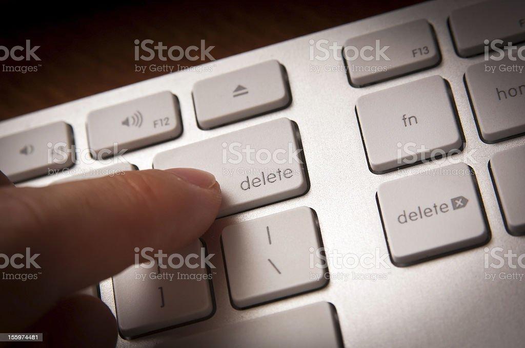 Delete Key stock photo
