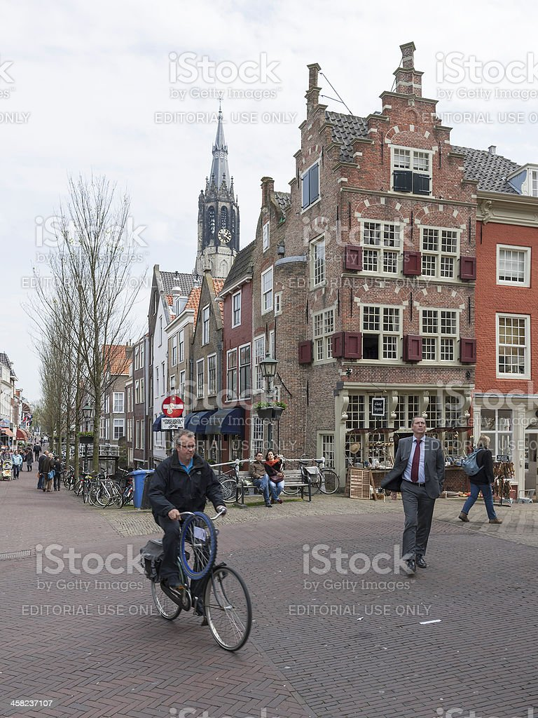 Delft city life royalty-free stock photo