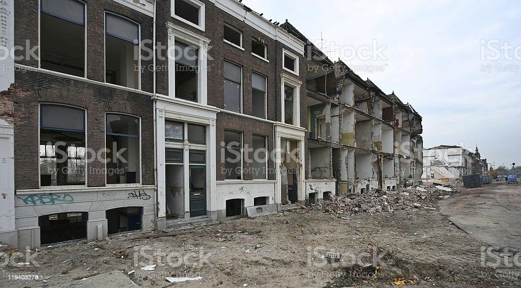 Delft Demolition royalty-free stock photo