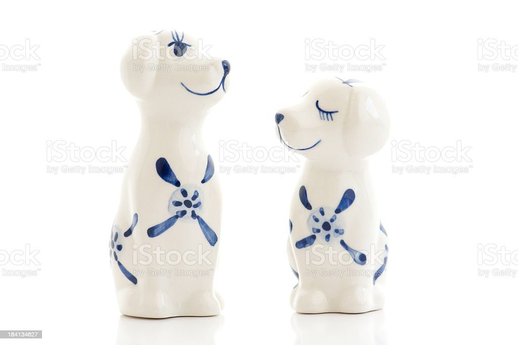 Delft dog souvenirs from The Netherlands stock photo