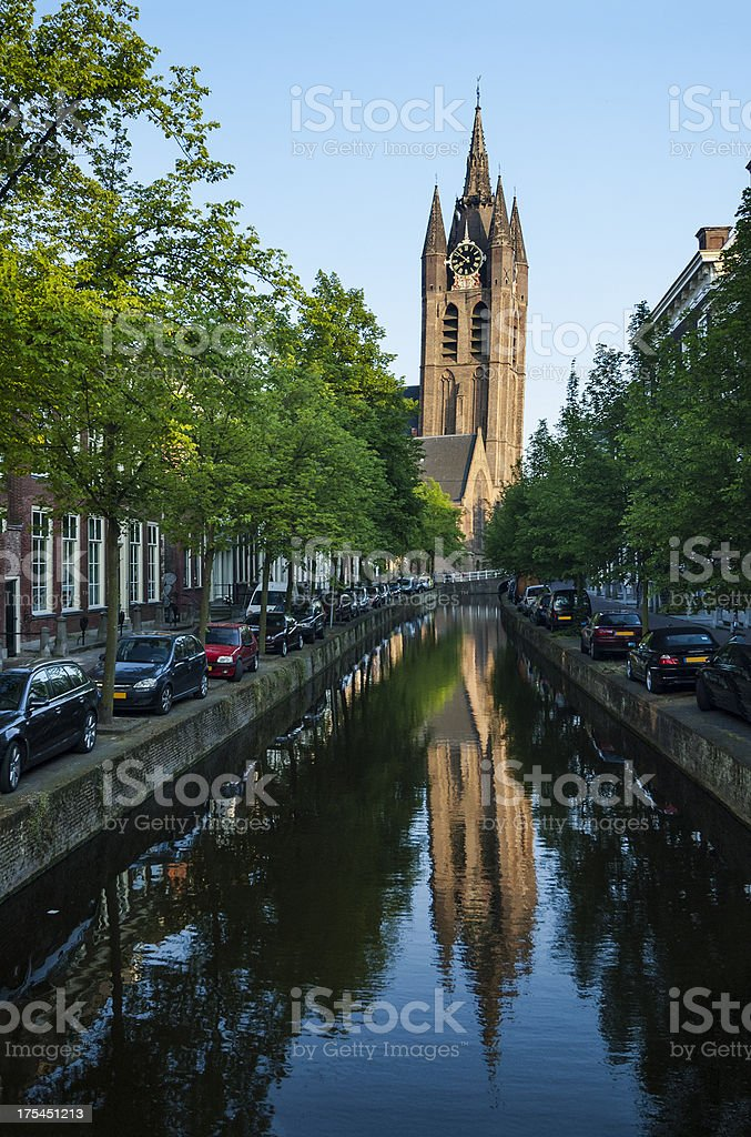 Delft > Historical Dutch Canal royalty-free stock photo
