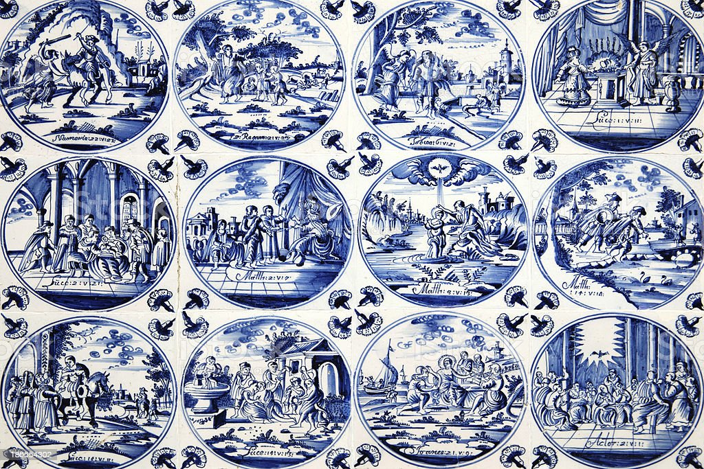 Delft Wall Tiles stock photo