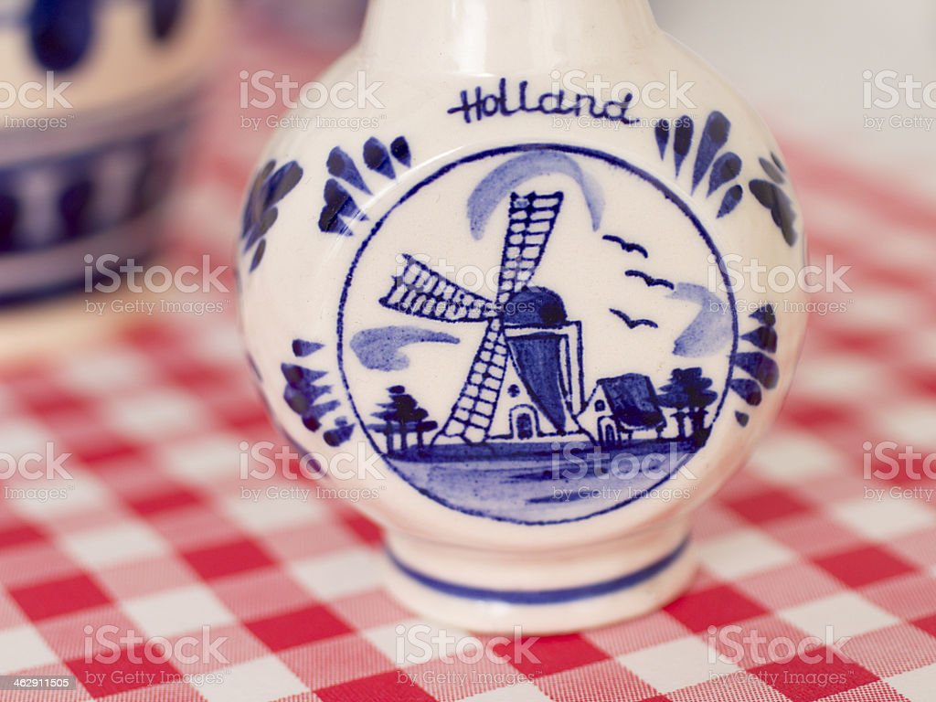 Delfts Blue small vase stock photo