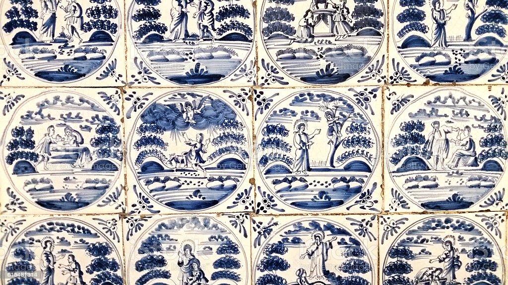Delfts Blue Tiles stock photo