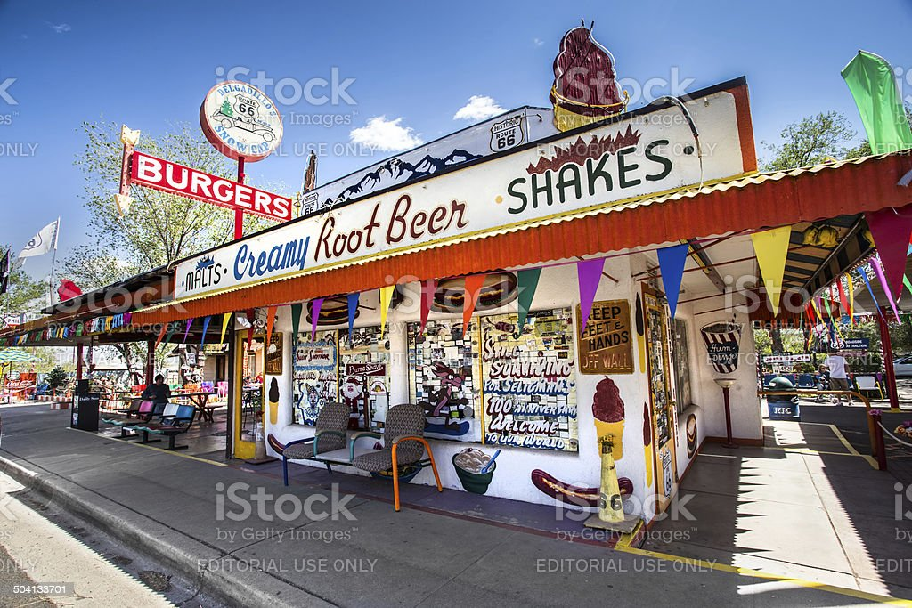 Delgadillos Snow Cap Route 66 stock photo