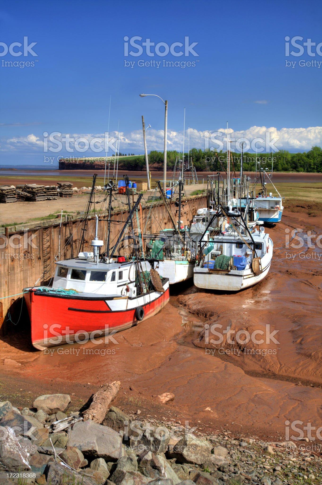 Delhaven Wharf 2 Nova Scotia royalty-free stock photo