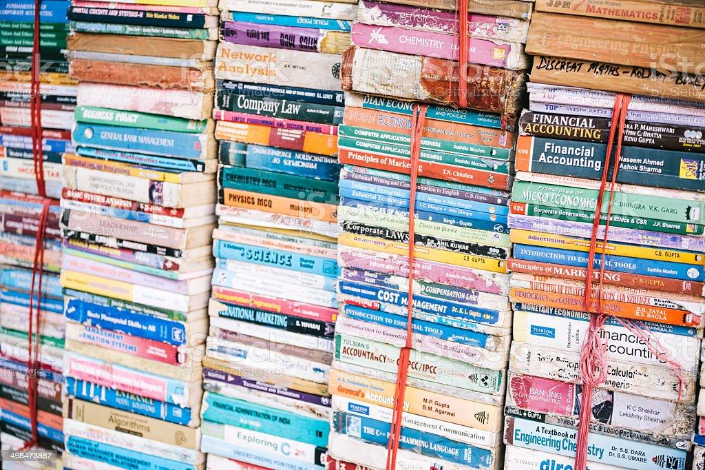Delhi bookstore stock photo