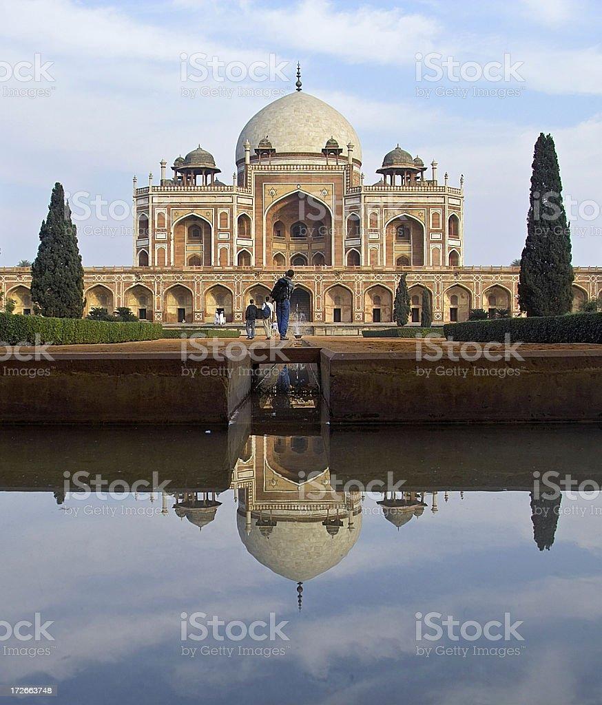 Delhi India: Humayun's Tomb royalty-free stock photo