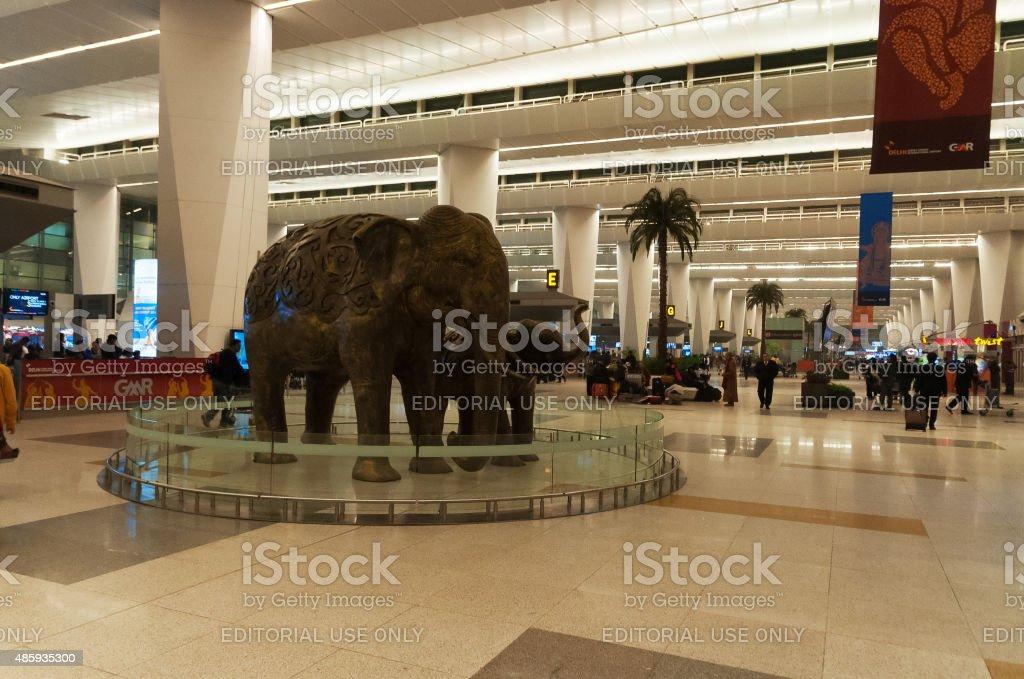 Delhi Indira Gandhi International airport stock photo