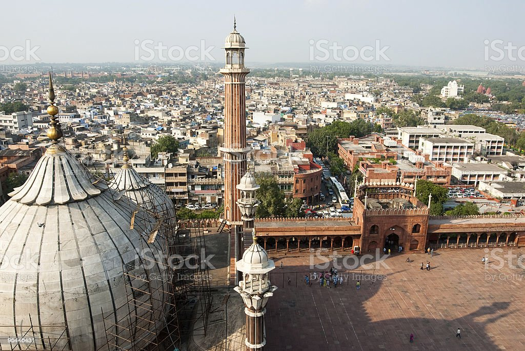 Delhi Jama Masjid stock photo