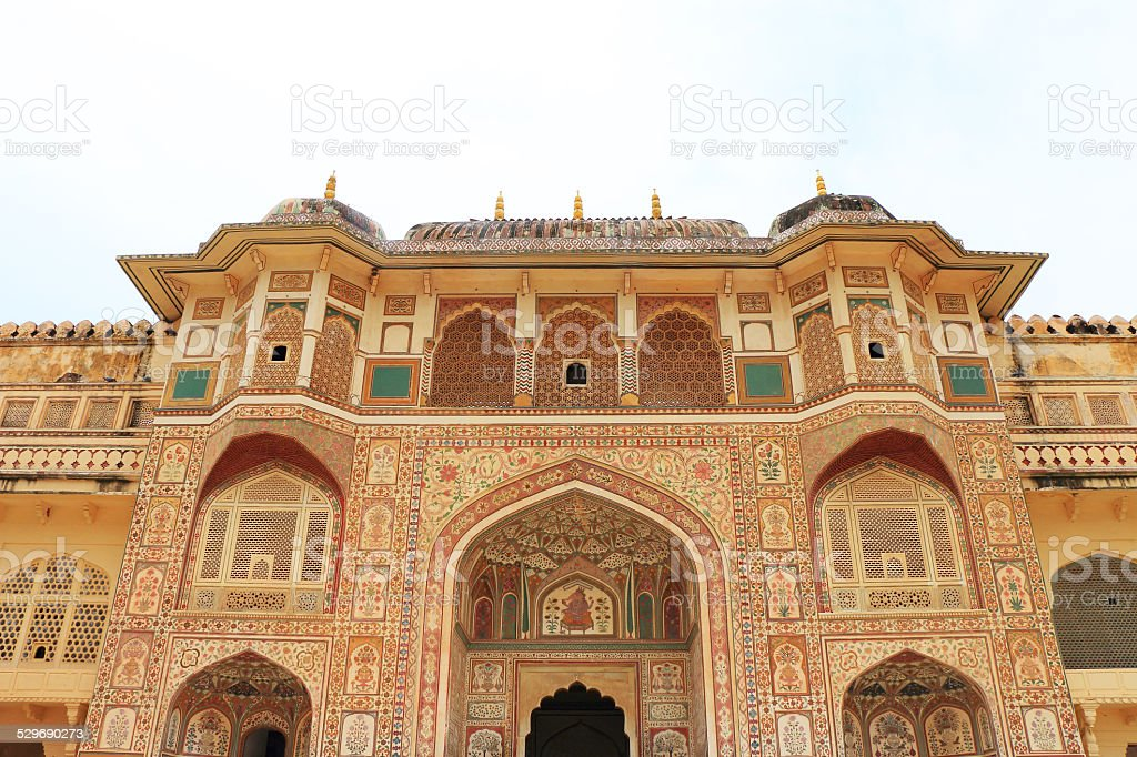 delhi red fort and grounds india stock photo