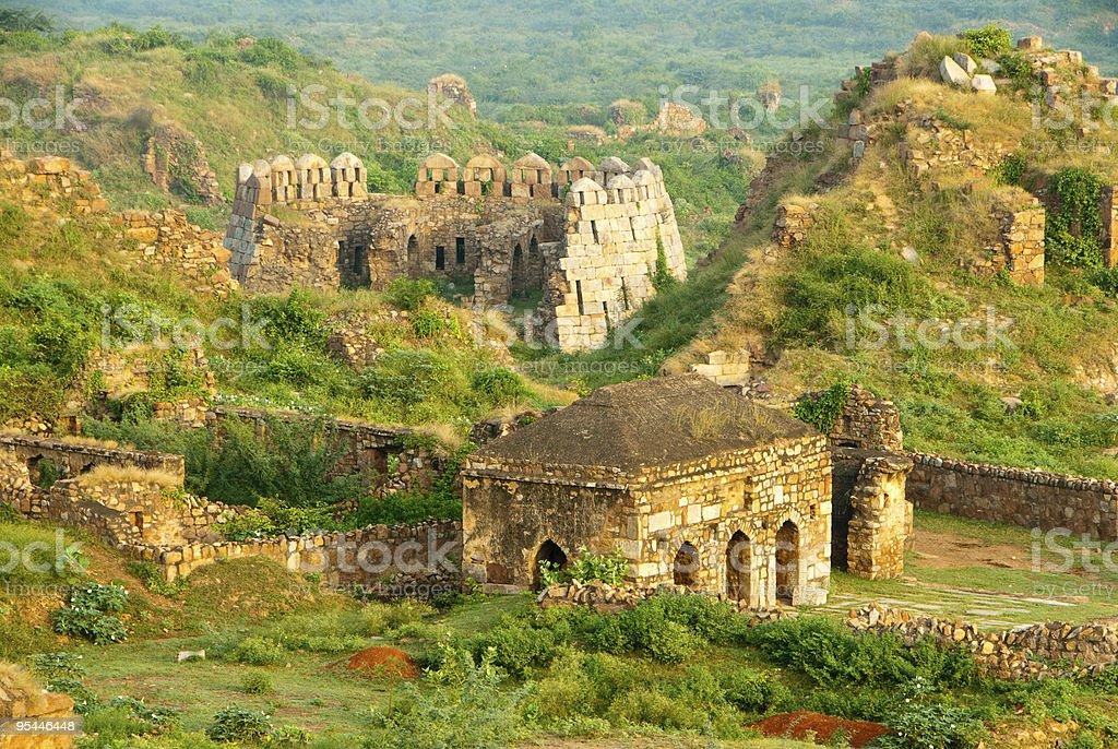 Delhi ruins royalty-free stock photo